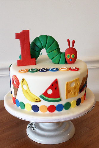 Very Hungry Caterpillar Custom Cake
