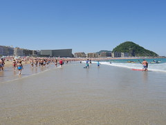 Playa la zurriola, San Sebastian