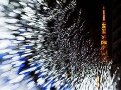 Shooting Stars from Tokyo Tower (takanorimutoh) Tags: lensbaby tokyo tokyotower colorsinourworld