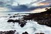 Vortex (melfoody) Tags: hawaii maui sunset makena ocean coast coastal usa slowshutterspeed longexposure motion waves rocks sun cloud