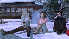 Snow Day ( ) Tags: second life friends winter snow day hang out casual