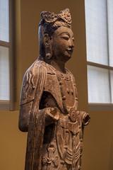"One half of ""Guanyin and Dashizhi"", China, Northern Qi Dynasty, 6th Century (Joey Hinton) Tags: olympus omd em1 cincinnati art museum mft m43 microfourthirds 1240mm f28"