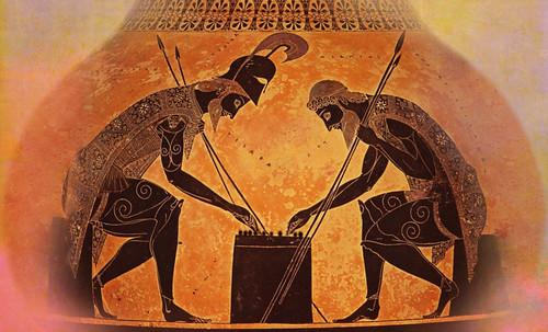 "Petteia - Ludus Latrunculorum  / Iconografía de las civilizaciones helenolatinas • <a style=""font-size:0.8em;"" href=""http://www.flickr.com/photos/30735181@N00/31710165643/"" target=""_blank"">View on Flickr</a>"