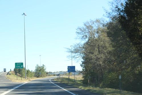 Florida I10eb Exit 136 exit lane
