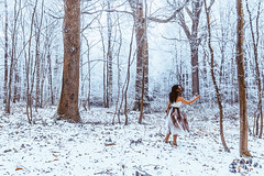 First day of 2017 (PokemonaDeChroma) Tags: throughherlens first day newyear 2017 selfportrait winter forest woods snow snowy fog foggy mist misty woman canoneos6d 24105mm yvelines iledefrance france trees leaf landscape cold mood atmosphere 01012017 january