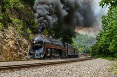 Assaulting Christiansburg Mountain (ryanmarkham20) Tags: train steam railroad virginia scenery mountain
