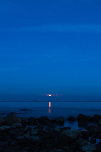 Månuppgång i Kalmarsund