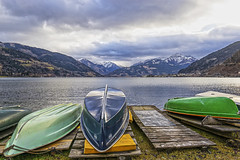 Boats and the Alps (Anna_L.) Tags: lake mountains alps thealps boat boats cloudy zeller zellersee zell zellamsee hdr
