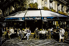 Digital Pen and Ink Drawing of Les Deux Magots by Charles W. Bailey, Jr. (Charles W. Bailey, Jr., Digital Artist) Tags: lesdeuxmagots cafe saintgermaindespres paris france europe photoshop photomanipulation automagiccreativearteffectsgen2 alienskin alienskinsoftware alienskinexposure topaz topazlabs topazrestyle topazclean drawing penandinkdrawing art fineart visualarts digitalart artist digitalartist charleswbaileyjr