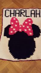 Minnie Mouse blanket for Charlah (dochol) Tags: minniemouse disney cute craft graph chart wool yarn alphabet name personalised handmade homemade crochet croche hakeln haakwerk haakenwert blanket babybalanket bebe manta afghan