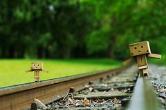 danbo-again (donaldj.trumpmaandimba) Tags: amazon balancieren balancing danbo danboard flickrcolour gleise project365 projekt365 railway revoltech spielzeuge toys lumix