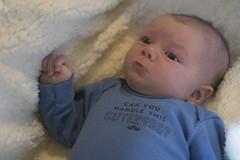 Ash Day 43 (evaxebra) Tags: ash baby infant mustache pout pouty