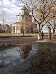 2017-01-29_09-57-25 (marinarafaelian) Tags: streetphotography street cityscape city armenianchurch church reflection one spring