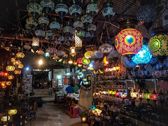 Lights of Turkey (AlexComiskey) Tags: street trip light colour shop turkey dark lights rainbow lowlight nikon europe bright vibrant patterns trkiye antalya lanterns lantern turkei d3300