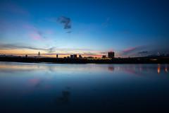 After-work leisure (pulongon) Tags: lighting blue sunset sky sunlight backlight canon landscapes twilight dusk taiwan  taipei      afterglow gloaming 1635   invertedimage     f28l  5d3  5dmarkiii