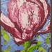 Magnolia, Acrylic, Framed, 29x25 cm $500.00 AUD