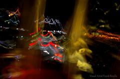 LA Street Gone Wrong III (Visual Artist Frank Bonilla) Tags: street trees bus cars bulb night lights hotel la losangeles airport streetlight jet planes frankbonilla visualartistfrankbonilla