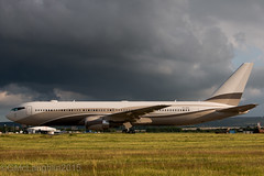 Roman Abramovic's Boeing 767 (GWMcLaughlin) Tags: rain weather clouds dark private scotland flying airport roman glasgow aircraft flight jet aeroplane boeing airliner gla boeing767 abramovic b767 b763 p4mes egpf