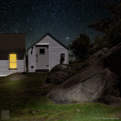 "Imagine Monhegan, Schoolhouse (24""x24"") (JMichaelSullivan) Tags: 100v island pentax maine 10f badge 600v schoolhouse magical 200v nocturne monhegan 500v k3 700v 300v 5f 15f 1000v 400v 20f 900v 800v da60250mm"