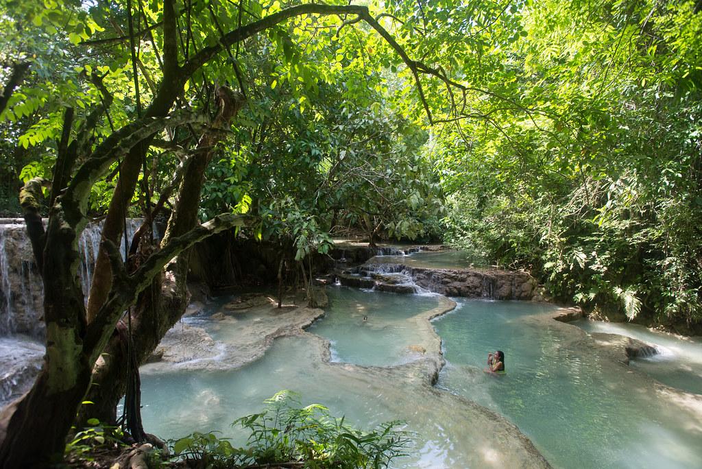 Swimming Kuang Si Falls