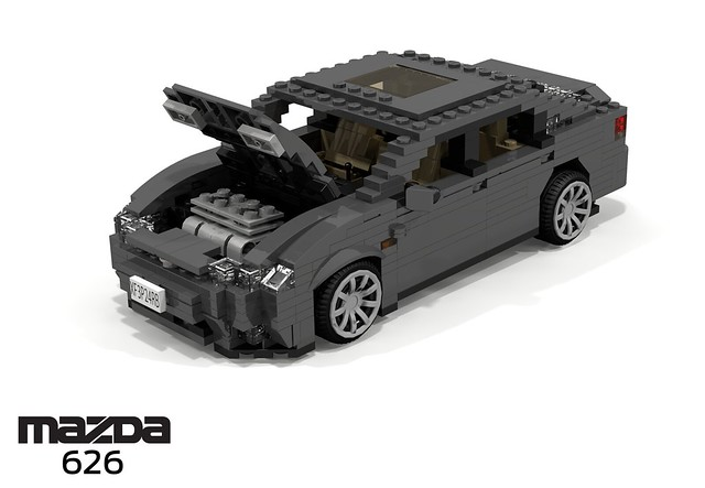 auto car japan japanese model lego stuck g render 1991 hatch mazda ge challenge 92 1990s 90s cad lugnuts hatchback povray 5door 626 moc capella ldd miniland liftback 5dr lego911 stuckinthe90s