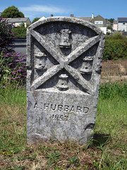 Parish boundary marker (chrisinplymouth) Tags: uk england stone plymouth number devon marker date img 1869 boundarymarker laira parishboundary parishboundarymarker plymgrp cw69x