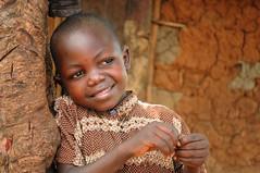 A smiling child in Uganda
