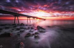 IMG_6441 (sotibiri) Tags: longexposure seascape del sunrise amanecer pont larga badalona exposicin petroli