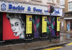 Zabou double take (donbyatt) Tags: urban streetart london wall graffiti spray east shutters cans shutterart zabou