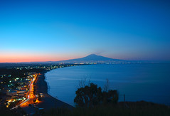 Midsummer Night's Dream [Explore] (Giandomenico Tricomi) Tags: blue sea italy nikon dream sicily etna d90