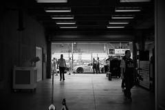 garage | Brickyard 400 (fasterthandanica) Tags: auto car sport race racecar kyle track indianapolis garage indy indiana pit racing nascar toyota vehicle motor autoracing 18 asphalt skittles sponsor gibbs camry ims motorsport speedway sunoco indooroutdoor kylebusch brickyard400 joegibbsracing pitroad sprintcup