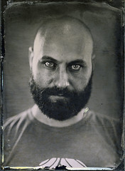 My face - Ambrotype (noarno) Tags: large ambrotype wetplate format bucharest bucuresti bucarest collodion 13x18 allkimikro