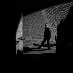 Light and shadow - Newcastle (Pat Kelleher) Tags: street light shadow urban blackandwhite bw blancoynegro blanco stone candid sony streetphotography cobble shade enblancoynegro patkelleher patkelleherphotography sonya6000 ispoty