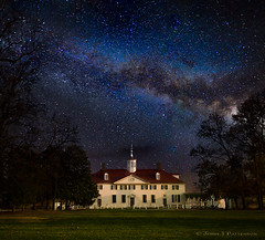 Mt Vernon Mansion Milky Way (Jerry T Patterson) Tags: mtvernon georgewashington georgewashingtonmansion mtvernonmansion milkyway stars astrophotography astronomy alexandria history historic president gw gwmansion