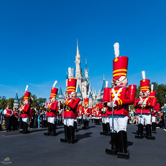 Merry Christmas from the Magic Kingdom (Don Sullivan) Tags: waltdisneyworld onceuponachristmastimeparade cinderellacastle magickingdom christmas parade holidays toysoldiers