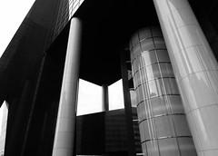 Shapes (Miranda Ruiter) Tags: rotterdam blackandwhite photography architecture design colonnade shapes