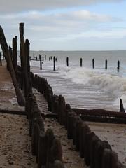 6837 Waves and groynes on Pet Levels beach (Andy - Busyyyyyyyyy) Tags: 20170110 bbb beach eastsussex ggg groynestump groynes kent petlevels rotting rrr sea shingle sss waves wood www