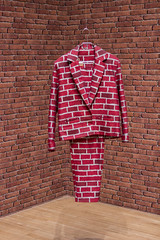 Brick Suit by Anthea Hamilton, Turner Prize 2016 Exhibition, Tate Britain, London (IFM Photographic) Tags: img4265a canon 600d ef2470mmf28lusm ef 2470mm f28l usm lseries pimlico london westminster cityofwestminster city tatebritain tate artgallery turnerprize2016 turnerprizeexhibition bricksuit antheahamilton