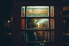 Tempus edax rerum (Louis Dazy) Tags: 35mm analog film grain night phone smoke cigarette dark