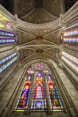 Admiration in vitraux (Alexandre DAGAN) Tags: eglise chapelle church urban exploration urbex architecture pentax pentaxk5 k5 sigma 1020mm couleur color colour