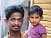 Kolkata - Father and son (sharko333) Tags: travel voyage reise street india indien westbengalen kalkutta kolkata কলকাতা asia asie asien people portrait man child olympus em1
