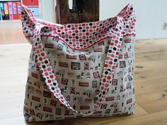 Shopping bag for Tori (ompompali Claudia) Tags: patchwork tote bag