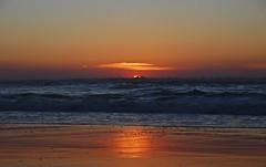 DSC_4232 (mrsdyvz) Tags: sun portugal aveiro nikon d3200 sundown portrait model beach sand sea ocean water waves glasses rock silhouttes horizon harmony sky blue clouds costa nova praia