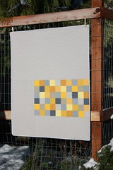 Modern patchwork (Shiners view) Tags: patchwork modernpatchwork solids gray yellow baby quilt modern