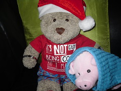 """""""I arsked fer pigs in blankets... (pefkosmad) Tags: tedricstudmuffin ted teddy bear cute cuddly soft stuffed toy animal pig blanket pigsinblankets plush fluffy christmas christmasday sunday food bacon sausages"""