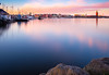 Take Me Back (sk_husky) Tags: stockholm sweden city water reflection boats sky clouds purple pink blue dusk sunset landscape beauty beautiful canon outdoor serene long exposure bw filter nd neutral density waterfront architecture watercourse lake