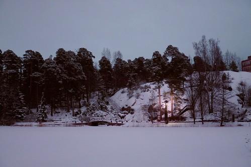 A lone light