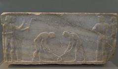 "Base for a Kouros - I : Hochey Game (egisto.sani) Tags: funerary base funeraria ""late archaic"" ""tardo arcaico"" style period periodo stile ""archaic period"" arcaico archaic greca marble marmo bassrelief bassorilievo scultura ""themistoklean wall"" keramikos ceramicos atene athens ""national archaeological museum"" ""museo archeologico nazionale"" ""no 3477"" nr 3477 ""nr"