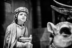 The Wise Man and his Gifts... (Ody on the mount) Tags: anlässe freiburg kirchen münster skulpturen urlaub weihnachten weihnachtskrippe bw monochrome sw