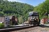 Springtime in West Virginia (Moffat Road) Tags: norfolksouthern ns coaltrain ge es44ac 8057 keystone westvirginia nspocahontasdistrict spring springtime coalminingtown train railroad locomotive wv pokey